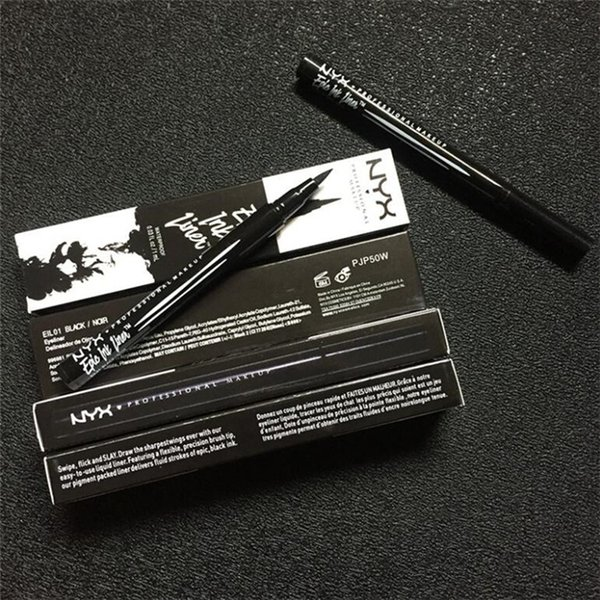 top popular NYX Epic Ink Liner NYX Black eyeliner pencil Headed makeup liquid Black Color eye liner waterproof Long Lasting Cosmetics 6pcs 2021