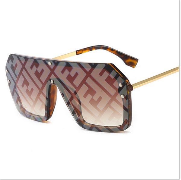 FF diseñador de las mujeres gafas de sol de la letra de la manera del verano 2019 Gafas de sol Marca de trama grande gafas de sol Mar Playa de arena a prueba de B6271 Sunglass