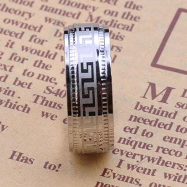 Einfache schwarze große mauer gedreht männer männlich titanium mode ring zubehör edelstahl ringe