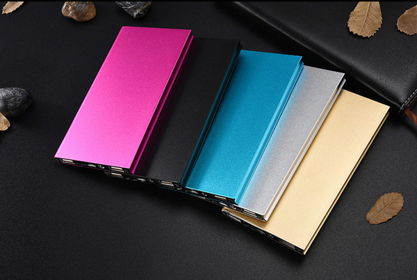 20000 Mah Powerbank Dual USB Ports Ultra Thin Slim Phone Charger Portable Mobile Power Battery Polymer Book Power Banks with Retail Box