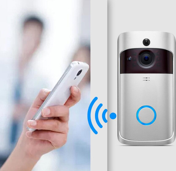 top popular New WiFi Video Doorbell 720P HD Wireless Security Camera with PIR Motion Detection For IOS Android Phone APP Control 2021