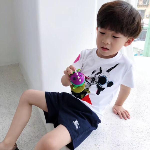 Freies verschiffen Kinder Sommer Kleidung Baby Boy T-shirt baumwolle hund Kurzarm T-shirt Kid Boy Casual Sport T-shirt 2-8Y Shirts
