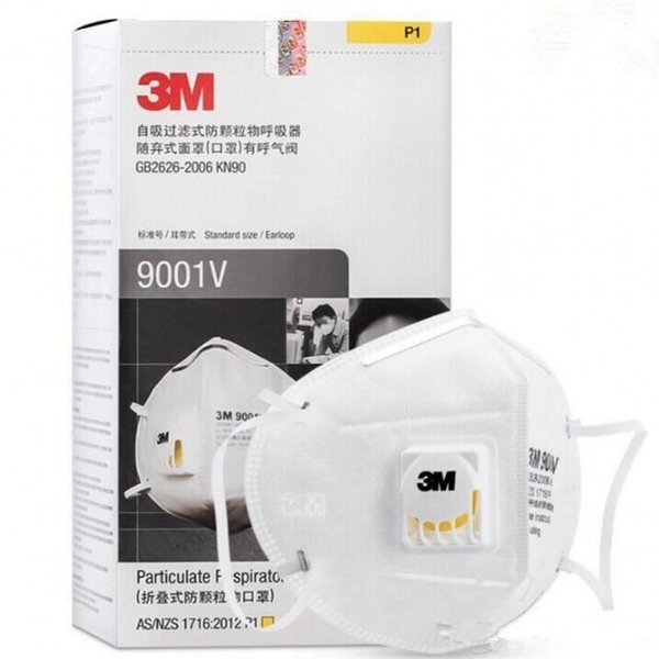 24 hour dhl shipping in stock 3m n95 filter face mask ffp2 mouth cover mask 9501v protective dustproof protective mask