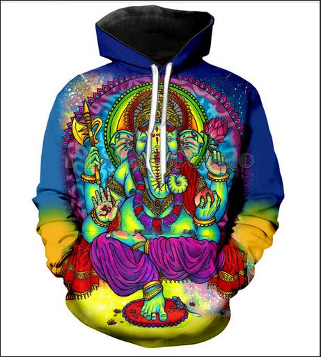 New Fashion Elephant Psychedelic Women/men's Hoodies Casual Style 3d Print Hoodie Autumn Winter Sweatshirts Hoody Tracksuits Tops R08
