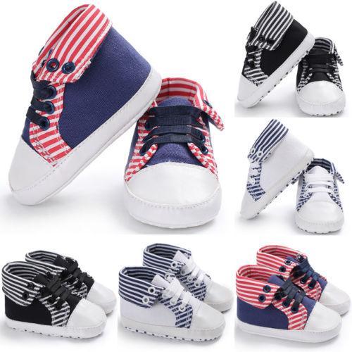 New Infant Baby Soft Sole Crib Shoes Newborn Boy Girl Toddler Sneaker Anti-Slip 0-18M