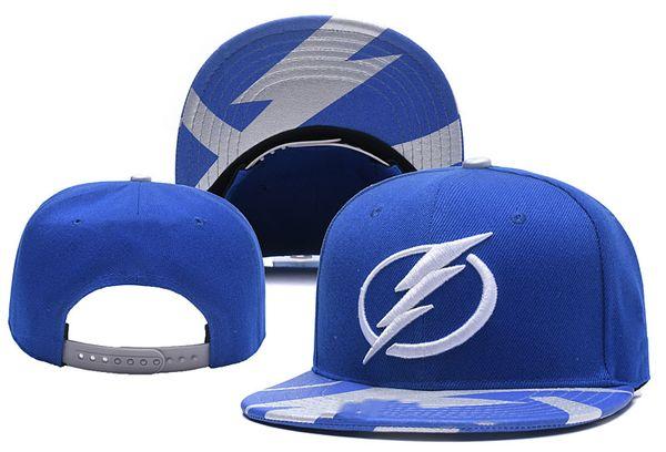 Tampa Bay Lightning Buz Hokeyi Örgü Kasketleri Nakış Ayarlanabilir Şapka Işlemeli Snapback Siyah Mavi Dikişli Şapkalar Bir Boyut Caps