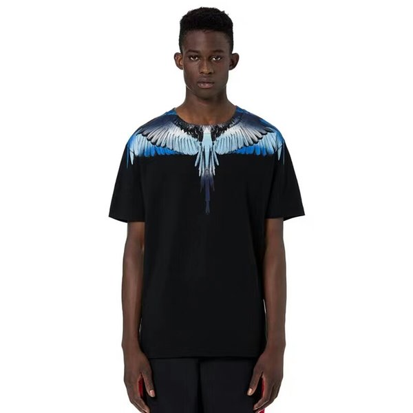 Marcelo Burlon T Shirts Men Women Italy County Of Milan Feather Wings MB T-shirt RODEO MAGAZINE Tee XXS/L