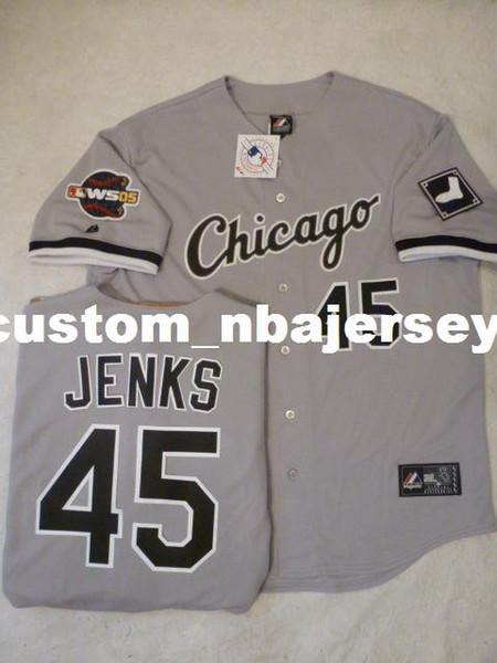 Cheap custom BOBBY JENKS 2005 Sewn Baseball Jersey GRAY Stitched Customize any name number MEN WOMEN BASEBALL JERSEY XS-5XL