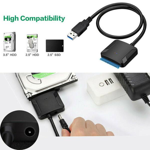 SATA a USB 3.0 2.5 / 3.5 pollici HDD Hard Disk SSD Converter cavo adattatore linea H