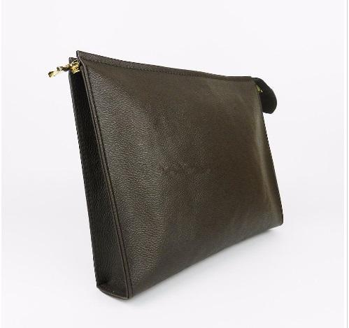 New Travel Toiletry Pouch 26 cm Protection Makeup Zopper Bags Clutch Women Genuine Leather Waterproof 19 cm Cosmetic Bags For Women 47542
