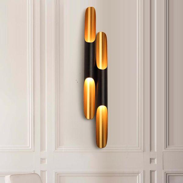 Semplice moderna della parete della lampada da parete nera della luce della parete di art deco l'accensione dei ripari lampade E27 lampade lucentezza
