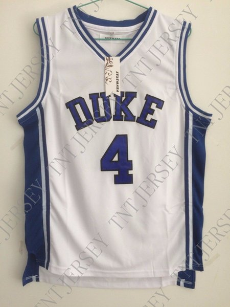 Cheap custom #4 J.J Redick Duke White Basketball Jersey Stitched Customize any name number MEN WOMEN YOUTH JERSEY XS-5XL