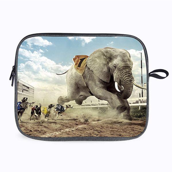 Cool2019 Theme Animal Bag Notebook Portable 14 Paquete de computadora de 13 pulgadas Aplica a la funda Apple Protect Sheath