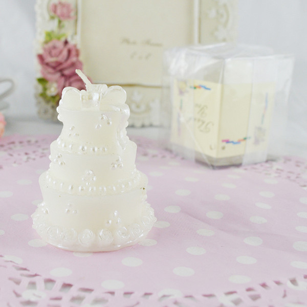 FEIS wholesale smokeless craft candle romantic cake-shaped birthday candle cake topper party decoration baby shower wedding favor small gift