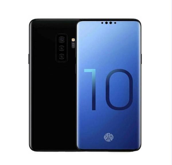 Goophone S10 S10 + Desbloqueado Smartphones Dual sim Android 8.1 octa núcleo 1G RAM 8G Mostrado Fake128 GB 4G LTE 6.3 polegadas GPS telefones celulares