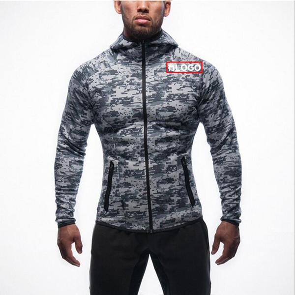 Kas Kardeşler erkek Hoodie İlkbahar ve Sonbahar Spor Hoodie Zip Gömlek Açık Rahat Kamuflaj erkek Ceket