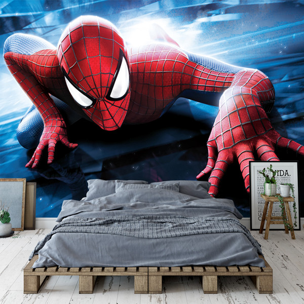 Compre Amazing Spider Man Photo Wallpaper Avengers Super Hero Wallpaper Personalizado 3d Mural De Pared Niños Niños Dormitorio Sala De Estar Sofá Tv