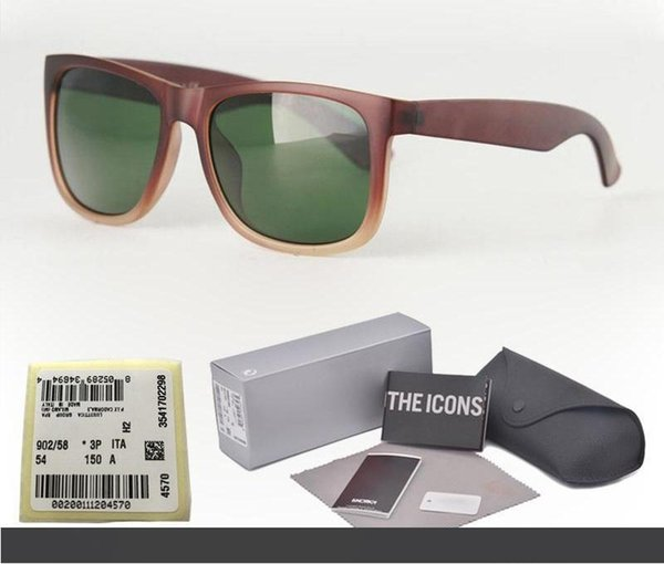 ( glass lens ) brand fashion men women sunglasses plank frame coating sport vintage sun glasses with retail cases and label thumbnail