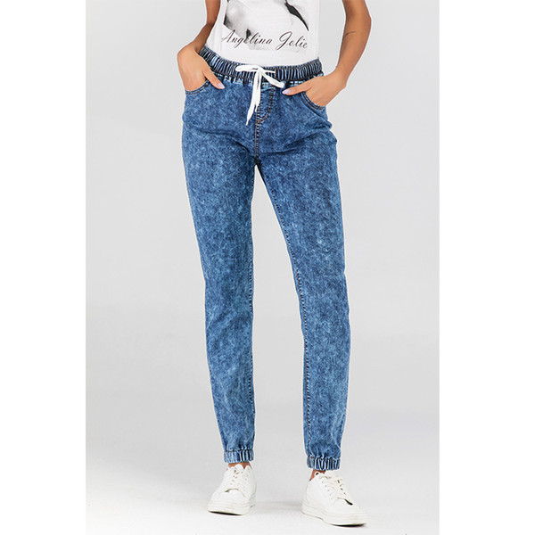 Wontive невысокие джинсов для женщин тонкого стрейч Denim Jean отбеленного Промытых тощий Push Up джинсы женщина Top Shop Streetwear
