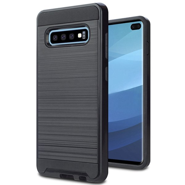 Metal Polished Hybird Shell Case for Samsung S10 5G S10e S10 Plus S9 S8 Plus Note 8 Note 9