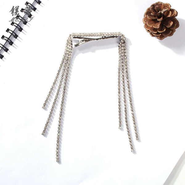 full diamonds tassels hair clips for women crystal luxury girl Barrettes western hot sale new hairpins gift for girlfriend free shipping