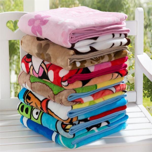 Nouveaux enfants couvertures Flannel spider-man Trolls Chaud couvertures de bande dessinée Smooth Flannel couvertures bébé Literie Swaddling Blanket 1.0 * 1.4M