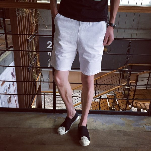 good quality 2019 Brand Men's Shorts Candy Color Casual Short Pants For Male Suit Pure Color Shorts Horse Pants