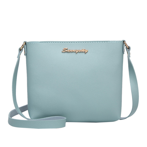 Women Handbag Fashion Solid Color Lady Messenger Bag Girls Crossbody Bag Mobile Phone Pouch Leather Crossbody Bags Women#H10