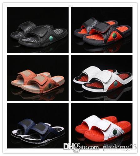 NIKE Air Jordan Hydro 13 sandals Atacado 13 Hidro VERMELHO branco chinelos MEN 13 s tênis de basquete tênis ao ar livre mulheres casuais formadores de moda tamanho 36-46