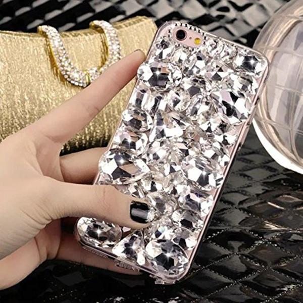 For Samsung C9 C10 A6 A8 A7 A5 Bling Shiny Girl Lady Handmade Crystal Diamond Phone Case For Galaxy J5 J6 J7 J8 Rhinestone Cover