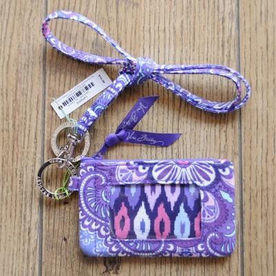 VB Cartões Titular com cordão Keychain Algodão Floral Zip identificação do Caso Lanyard Bus Credit Card ID do slot caso Bags Cordas Strap Key Ring Set HC103106