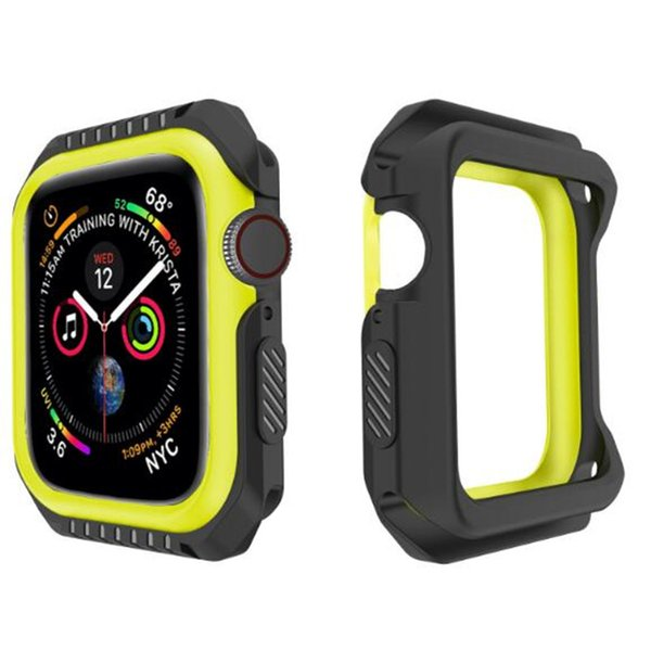 Smart Watch Sports Protective Case 38 40 42 44mm Soft TPU PC Protector Cases Silicone Defender Cover For iWatch Apple Watch 3 4 Shell GSZ506