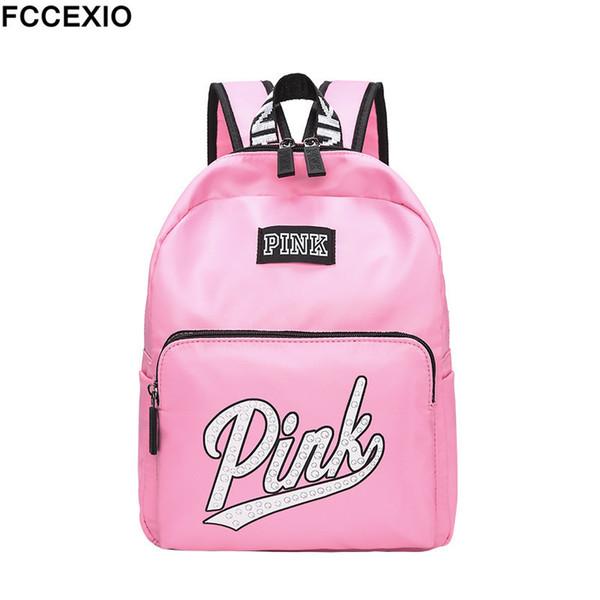 Fccexio 2019 New Backpack Women Leisure Back Pack Pink Backpack Travel Softback School Bag School Backpack For Girls Bagpack Set J190701