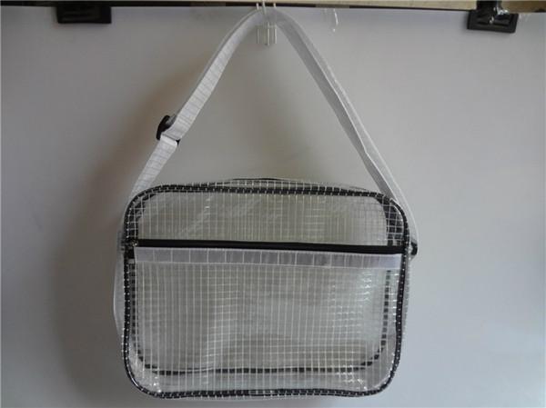 La borsa piena antistatica del sacchetto del computer portatile del PVC del bene durevole libera la borsa per utensili trasparente copertura completa di 17 pollici delle borse del PVC trasparente