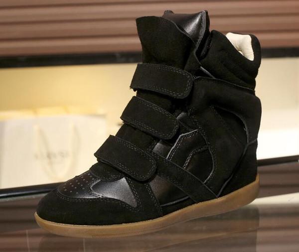 plus la taille 34-41 isabel femmes chaussures de sport en cuir véritable chaussures de luxe designer hauteur augmentant Chaussures pour femmes N19