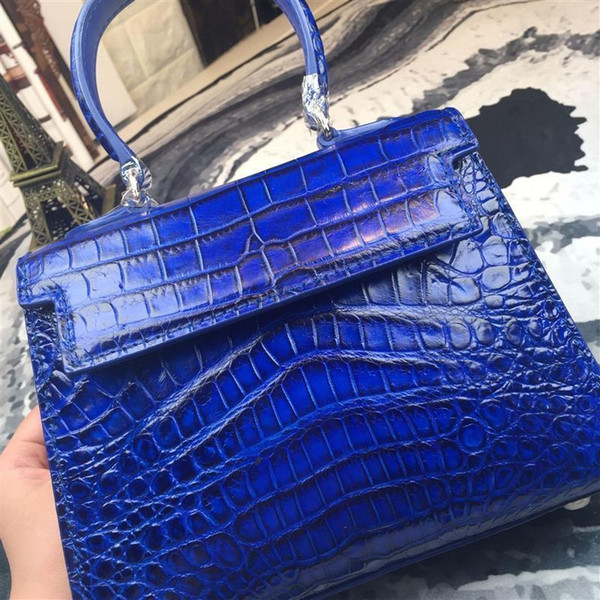 Amazing2019 H Bag Crocodile Home Hand Bill Of Lading Shoulder Span Package Genuine Leather High Archives Gift