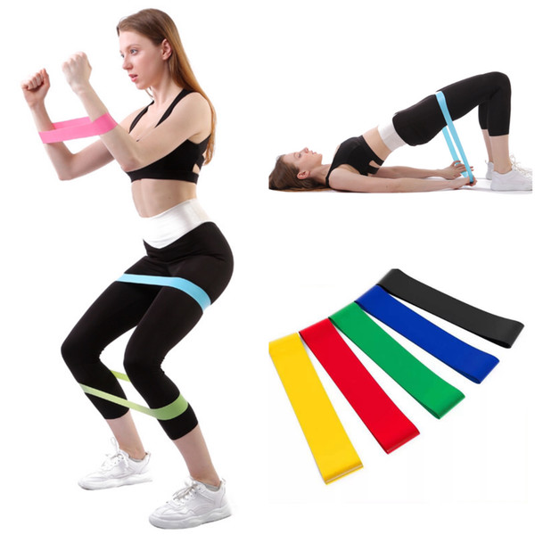 best selling Resistance Bands Yoga Body Building Training Belt Fitness Exercise Band High Tension Muscle for Leg Ankle Weight Training