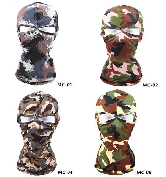 Lycra cs headgear windproof camo masks outdoor tactical riding headwear full face mask masked dustproof camouflage Balaclava hood
