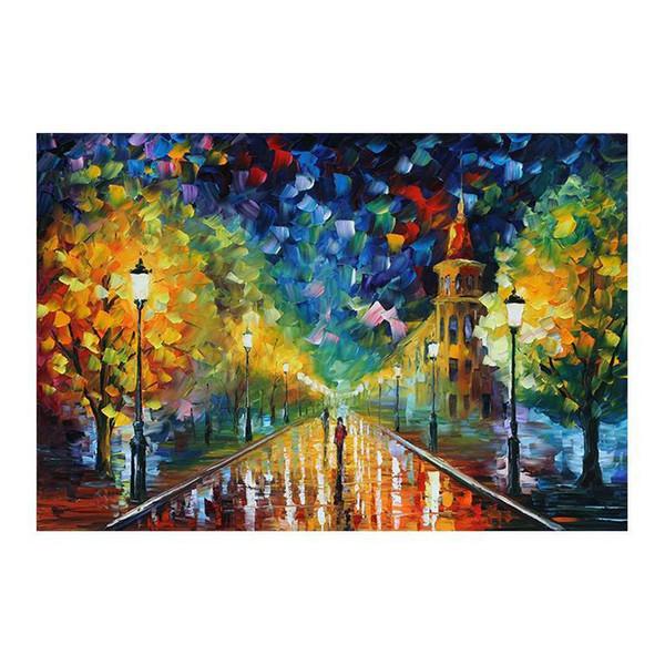 Paysage forestier peinture décoration européenne salon porche étude classique promenade romantique dans les bois peintures murales de peinture sur toile