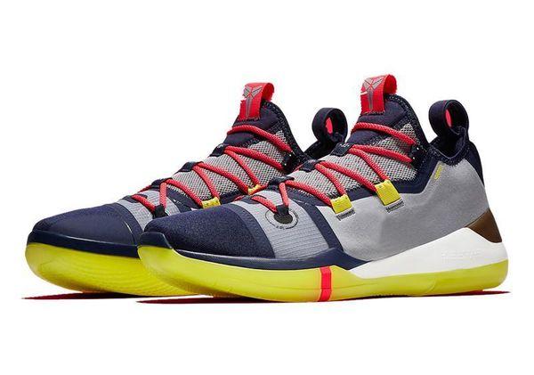 Neu!!! Kobe A.D Herren Basketball Schuhe Mamba Tag EP Segel Multi-Color AV3556-100 Kobe AD Sports Sneakers Größe 7-12
