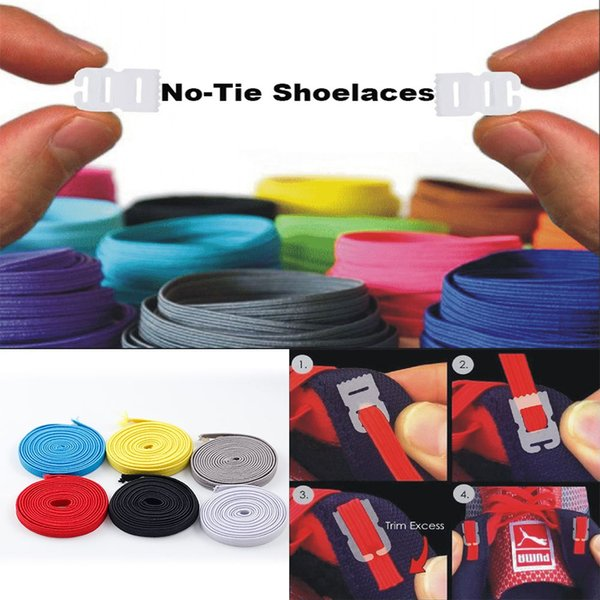 1 pair Elastic No Tie Shoelaces Running/Jogging/Sports Trainer Athletic Sneaks Shoe laces DIY for Kids Colored