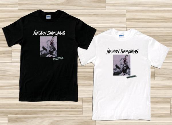 Benim Beyin Içinde Kızgın Samoans Punk erkek Siyah Beyaz T-Shirt Boyutu S-3XL Üst Ücretsiz Kargo T-shirt Trump Ter Sporter T-shirt