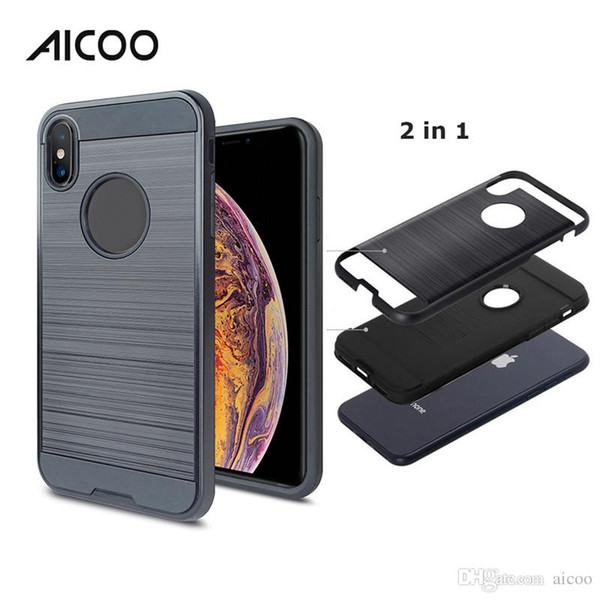 Aicoo Hybrid Shockproof Armor Cell Phone Case For Iphone XS MAX XR Samsung J2 core J3 6 7 A8 Coolpad Legacy LG V40 Moto E5 ZTE Huawei Opp
