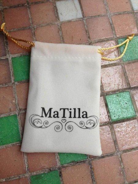 Branco personalizado 25 * 35 cm saco de jóias de veludo com impressão a ouro colar de veludo de armazenamento e embalagem saco de pó para presente sho'e