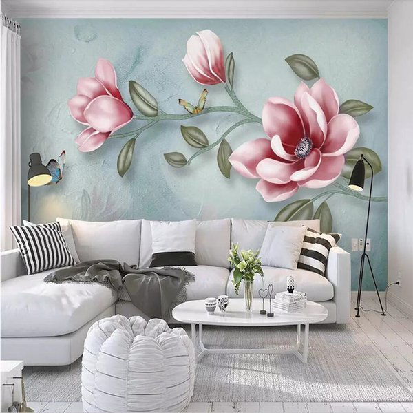 3d Large Mural Oil Painting Floral Wallpaper Hand Painted Bedroom Tv Background Wall Paper American Retro Dark Wall Cloth Hd Wallpaper Background Hd