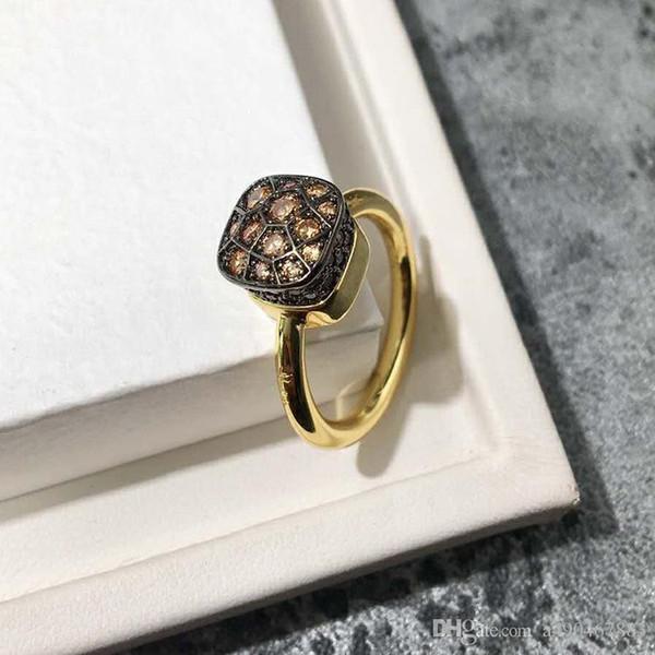 Hot Nlm99 anel de ouro 2019 de alta qualidade de pedra multi-color hot-venda quente para o presente amantes anel fashionista