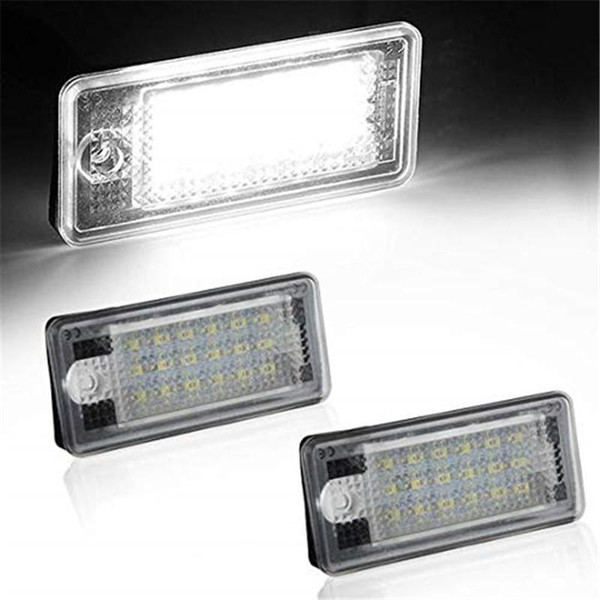 For Audi A3 A4 A6 A8 S6 Q7 RS4 RS6 Plus etc LED License Plate Lamps Daylight White Plate Light License Tag Lamps high power