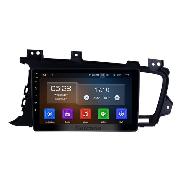 Aftermarket Android 9.0 Touch Screen 9 Inch Car Stereo GPS Navigation for 2011-2014 Kia K5 with Bluetooth support Remote Control car dvd