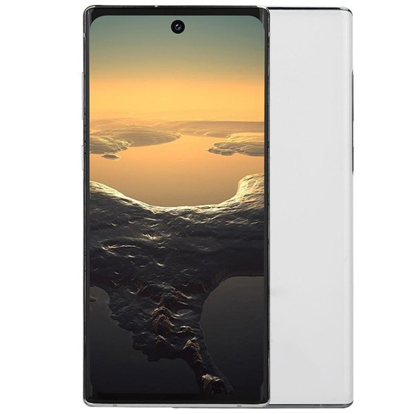 """best selling 3G WCDMA Goophone N10+ Face ID 1GB 4GB+32GB Quad Core MTK6580 Android 9.0 6.8"""" Punch-hole Full Screen 3 Rear Cameras Fingerprint Smartphone"""