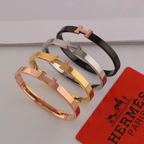 Gezeiten Marke H Armreifen INS Mode schlichtes Design Paar Armbänder Weihnachten Geschenke für Männer Frauen Trendy Armreifen